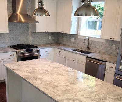 cabinets countertops kitchen marble renovated mar the backsplash home pin white