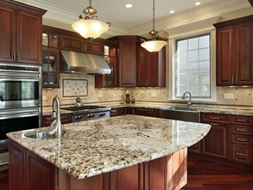 Kitchen Counter Marble calacatta marble kitchen countertops kitchen remodel ideas white Extreme Granite And Marble Granite Kitchen Countertops Rochester Mi