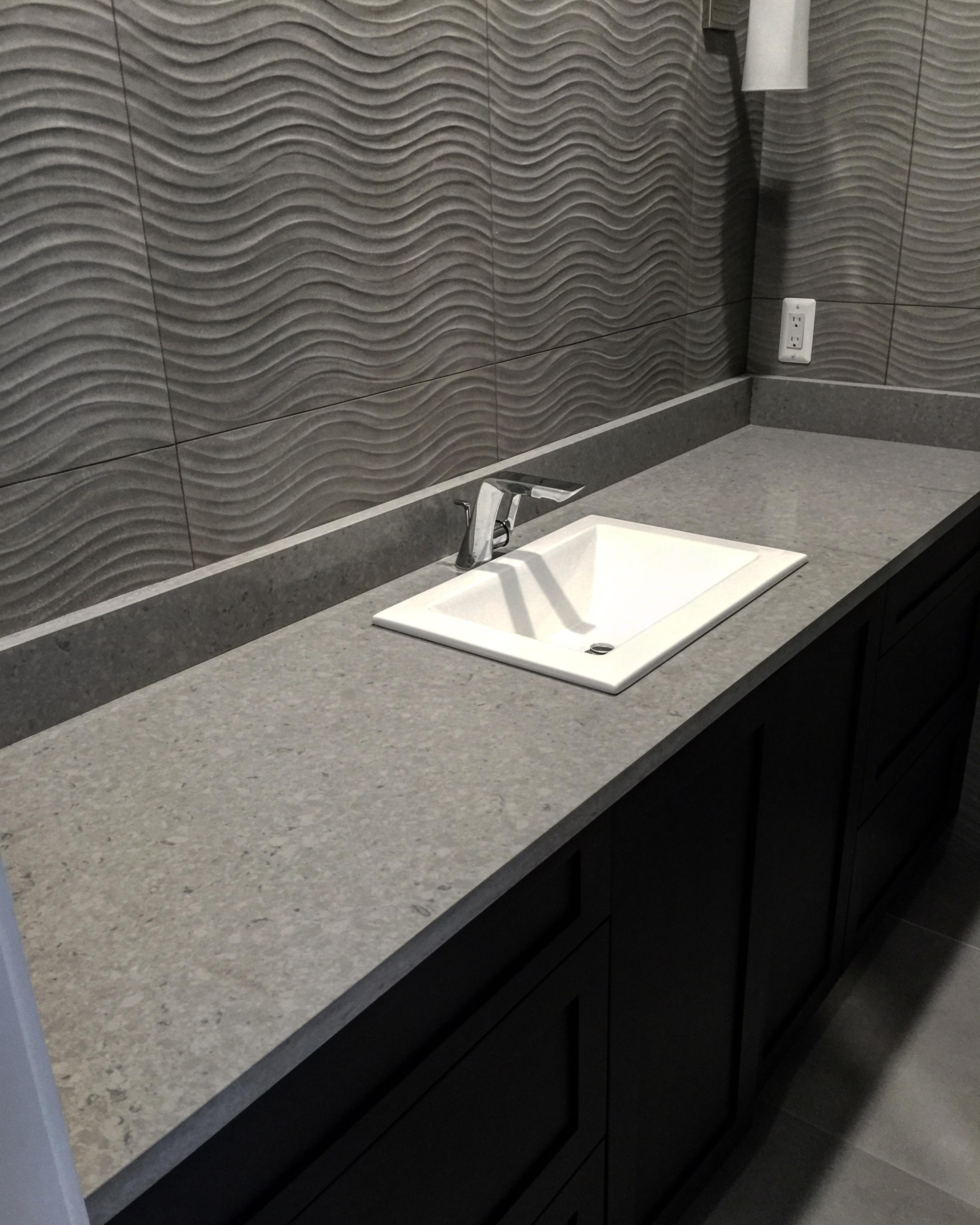 Extreme Granite and Marble - Quartz Bathroom Countertops Installation