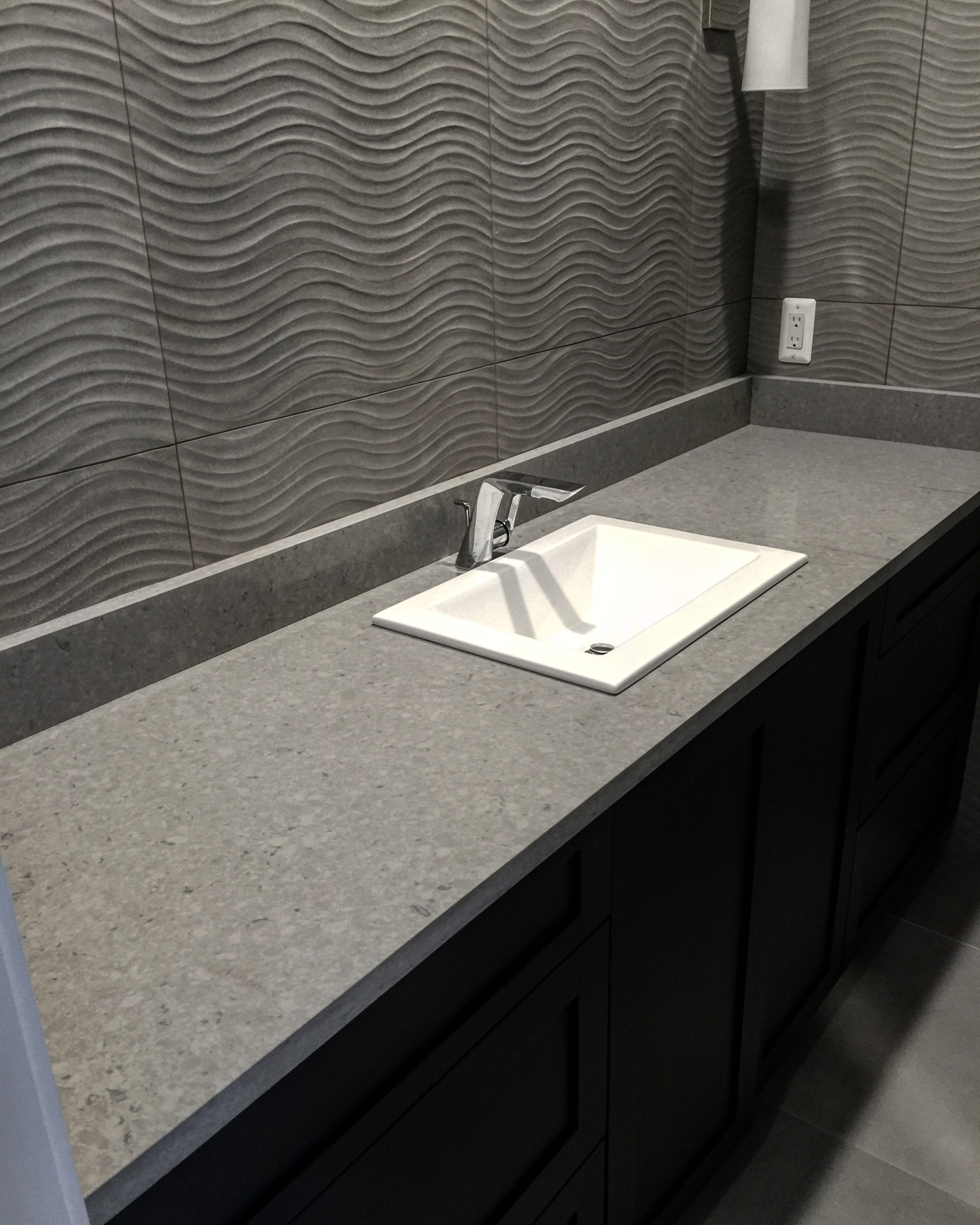 Extreme Granite and Marble - Quartz Bathroom Countertops Installation